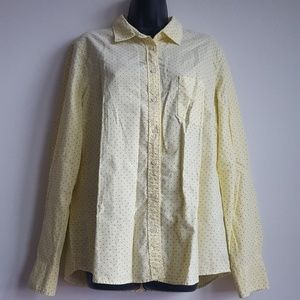 J. Crew Polka Dot Button Up Long Sleeve Shirt